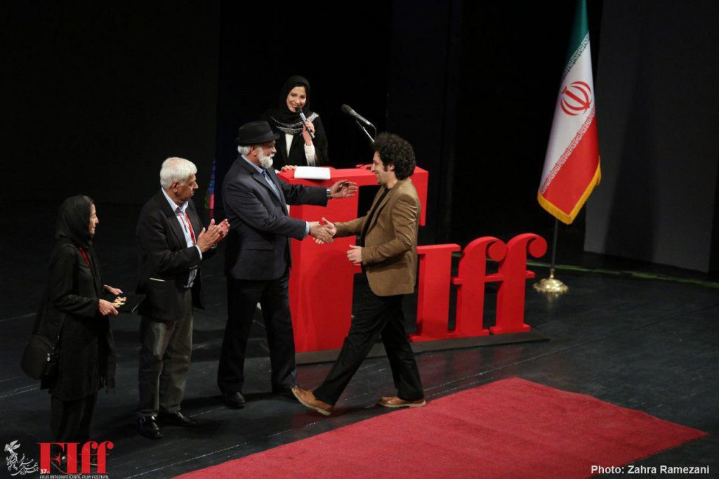 NETPAC Jury presenting the award to Farzad Khoshdast