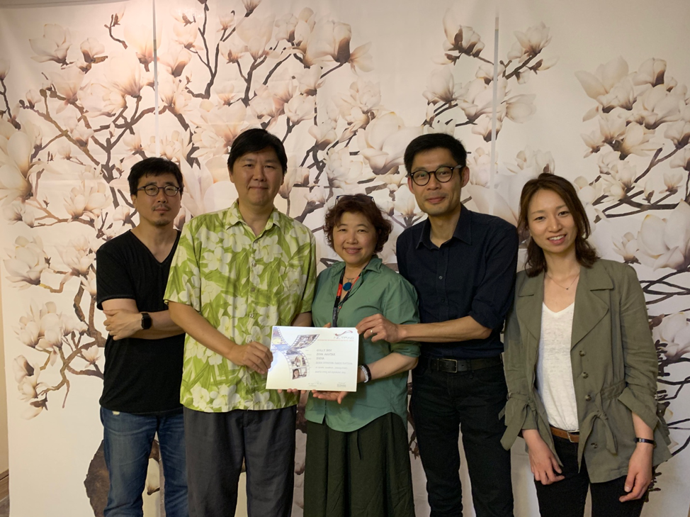 BIFAN Programmer KIM Bongseok, NETPAC Jury chair-person George Chun Han Wang, NETPAC Jury member Yoona Kim, NETPAC Jury member Clarence Tsui, and BIFAN Head Manager of Program Gina Kang, at the NETPAC Award deliberation on July 2, 2019.