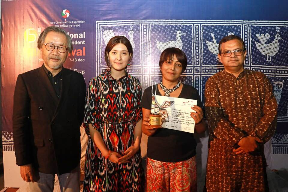 Netpac Jury with the Winning Director Senjutee Suborna Tushee